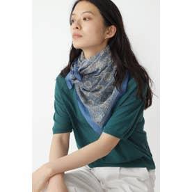 MOIS MONTスカーフ ブルー系3