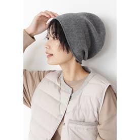 ◆pqnqニット帽 チャコール1
