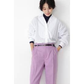 ◆タイプライターシャツブラウス ホワイト