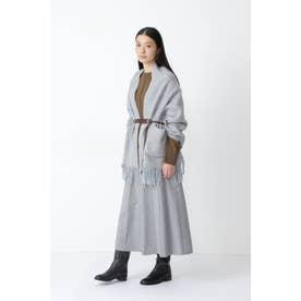 ◆撚杢ツィードスカート ブルー系