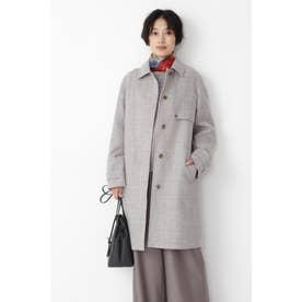 ◆≪Japan Couture≫シェットランドウールステンカラーコート ライトグレー