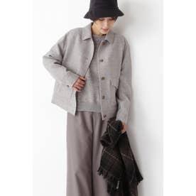 ◆≪Japan couture≫シェットランドウールブルゾン ライトグレー