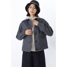 ◆≪Japan couture≫シェットランドウールブルゾン ネイビー