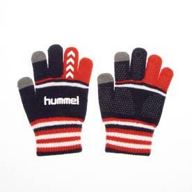 ジュニア サッカー/フットサル 防寒手袋 ジュニアマジックグローブ HFA3051 (ネイビー)