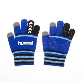 ジュニア サッカー/フットサル 防寒手袋 ジュニアマジックグローブ HFA3051 (ブルー)