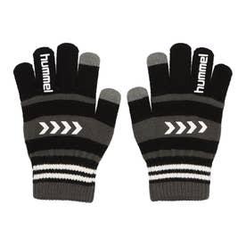 ジュニア サッカー/フットサル 防寒手袋 ジュニアマジックグローブ HJA3055 (ブラック)