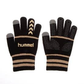 メンズ サッカー/フットサル 防寒手袋 マジックグローブ HFA3051 (ブラック)