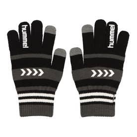 メンズ サッカー/フットサル 防寒手袋 マジックグローブ HFA3055 (ブラック)