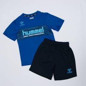 ジュニア サッカー/フットサル 半袖シャツ JR.プラクティススーツ HJY1144SP (ブルー)