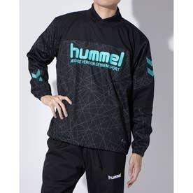 メンズ サッカー/フットサル ピステシャツ ハイブリッドピステトップ HAW4192 (ブラック)