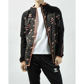 メンズ サッカー/フットサル フルジップ ウーブンフーデッドジャケット HAW2082 (ブラック)