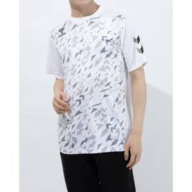 メンズ サッカー/フットサル 半袖シャツ プラクティスシャツ HAP1152 (ホワイト)