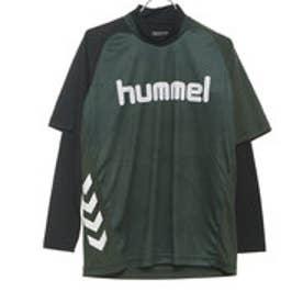 HUMMEL メンズ サッカー/フットサル レイヤードシャツ レイヤードプラクティスシャツセット HAP7116