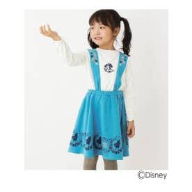 【90-120cm】アナと雪の女王2/リボン付きレイヤードワンピース(ディズニー) (ブルー(092))