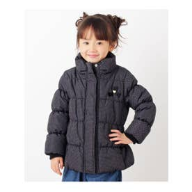 【90-160cm】スタンドカラーコート (ブラック(419))