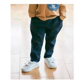 【90-160cm】らくBO ツータックパンツ (ネイビー(093))