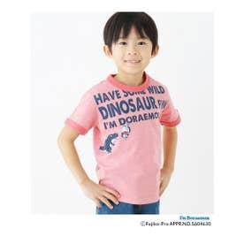 ハッシュアッシュ HusHusH 【ドラえもん】ドラ恐竜Tシャツ (レッド)