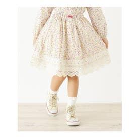 ハッシュアッシュ HusHusH 【100-160cm】小花柄スカート (ピンク)