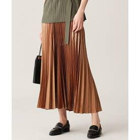 【マガジン掲載】Gloss Satin スカート(番号CE24) (キャメル系)