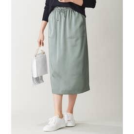 【洗える】Calm スカート (スモーキーグリーン系)