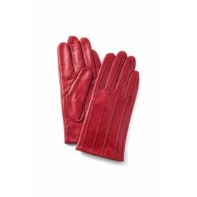 着こなしにプラスワン 裏シャギー素材の本革手袋 (レッド)