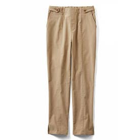 通勤にふさわしい 上品ベージュにこだわった 高機能リネン混吸汗速乾パンツ (ベージュ)