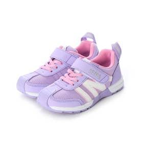キッズ スニーカー  子供靴 シューズ 運動靴 30-0171 (パープル)