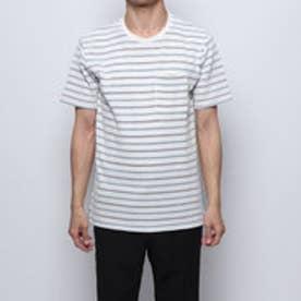 メンズ 半袖Tシャツ MワッフルボーダーTSS