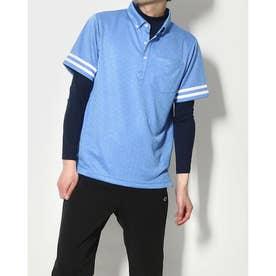 メンズ ゴルフ セットシャツ IG-1L1101B-C2P (ブルー)