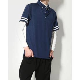 メンズ ゴルフ セットシャツ IG-1L1101B-C2P (ネイビー)
