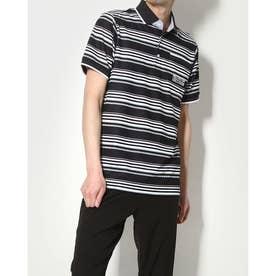 メンズ ゴルフ セットシャツ IG-1H1071P (ブラック)