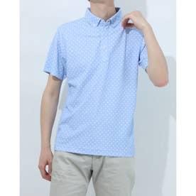 メンズ ゴルフ 半袖シャツ IG-1H1091B-C (ブルー)