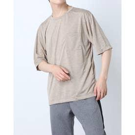 メンズ 半袖機能Tシャツ MBIG半袖TシャツIC(杢) IG-9A13071TS (ベージュ)