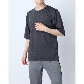 メンズ 半袖機能Tシャツ MBIG半袖TシャツIC(杢) IG-9A13071TS (ブラック)