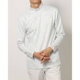 メンズ ゴルフ 長袖シャツ アイヒートカモフラージュ柄ハイネック長袖シャツ IG-1L1511H-H (ホワイト)