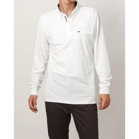 メンズ ゴルフ 長袖シャツ アイヒートボタンダウン長袖シャツ IG-1L1541B-H (ホワイト)