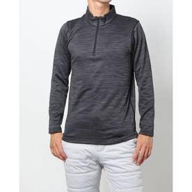メンズ ゴルフ 長袖シャツ アイヒート裏グリッドハーフジップ長袖シャツ IG-1L1531Z-H (グレー)