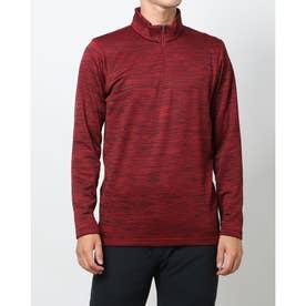 メンズ ゴルフ 長袖シャツ アイヒート裏グリッドハーフジップ長袖シャツ IG-1L1531Z-H (レッド)