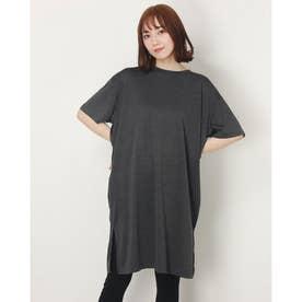 レディース 半袖機能Tシャツ L ワンピースIC IG-9A23041OP ク (ブラック)
