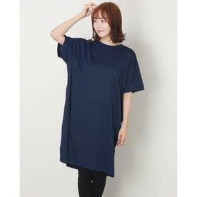 レディース 半袖機能Tシャツ L ワンピースIC IG-9A23041OP ク (ネイビー)