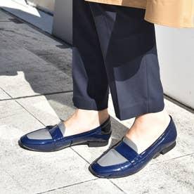【レイン対応】ローファーシューズ (ネイビーコンビ)