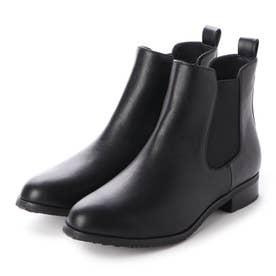 【晴雨兼用】【防滑】【防寒】サイドゴアショートブーツ (ブラック)