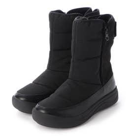 【晴雨兼用】【防滑】【防寒】インナーファーウィンターブーツ (ブラック)