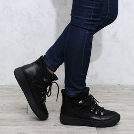 【晴雨兼用】【防滑】【防寒】トレッキング調ブーツ (ブラックスエード)