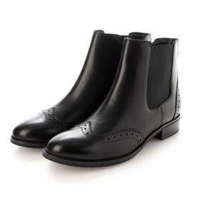ウイングチップショートブーツ (ブラック)