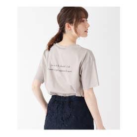 【WEB限定】シルケットスムースバックロゴTシャツ (ライトベージュ)
