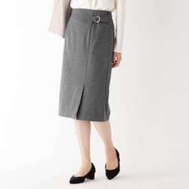 【WEB限定サイズ】 Carreman ポンチラップスカート (グレー)