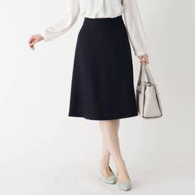 【WEB限定サイズ】スパークルツイードAラインフレアスカート (ネイビー)