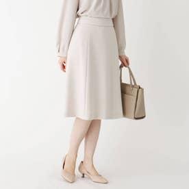 【WEB限定サイズ】スパークルツイードAラインフレアスカート (オフホワイト)