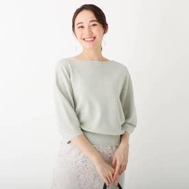 ハイツイスト パフスリーブニット【WEB限定サイズ】 (カーキ&グリーン)